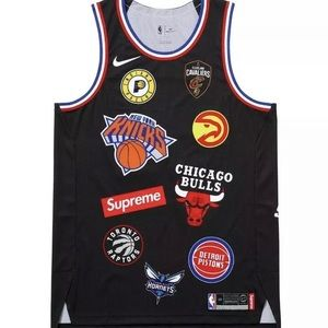 100% Authentic SUPREME NBA/NIKE black jersey